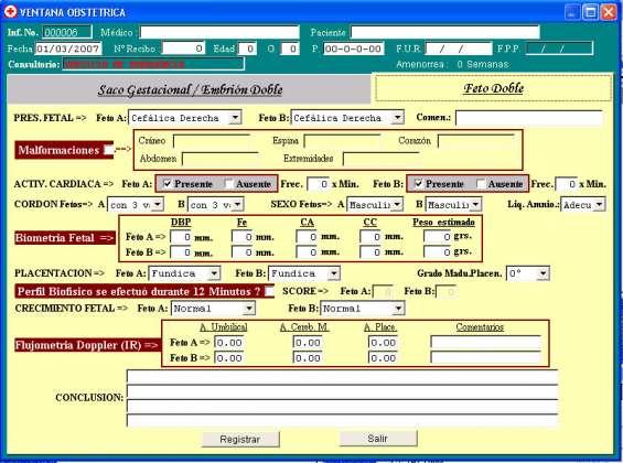 Software para informes ecográficos, ecografias