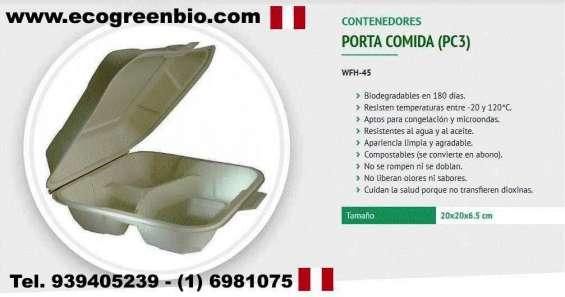 Biodegradables ecológicos para alimentos lima perú con certificación fda ecogrennbio