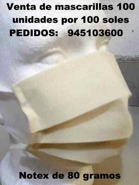 100 mascarillas por 100 soles lima pueblo libre perú notex 80 gramos pedidos 945103600