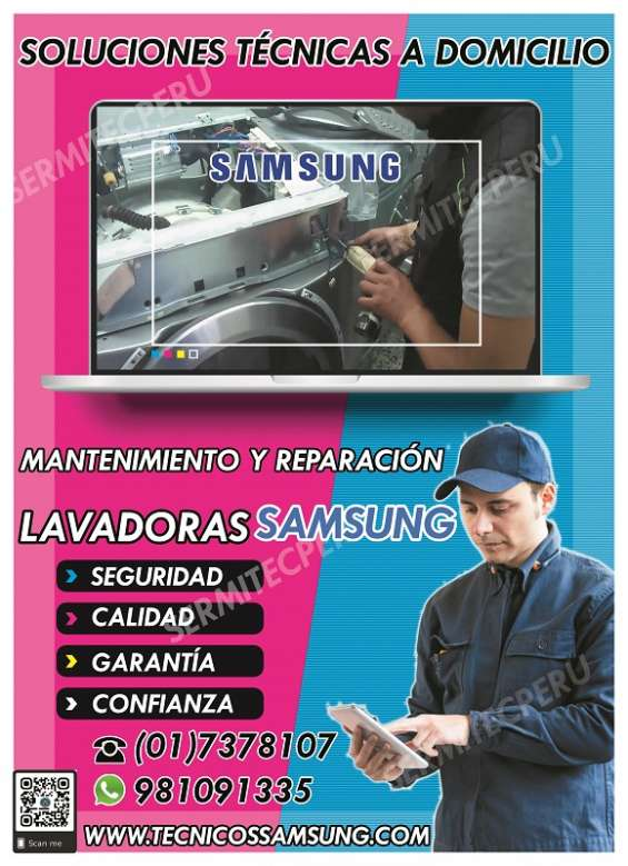 ¿su secadora samsung está fallando? contáctanos 981091335