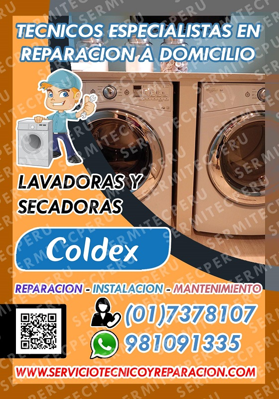 Técnicos a1-lavadoras coldex a tu domicilio 7378107
