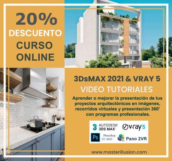 Curso online 3dsmax 2021 y vray 5 para infoarquitectura