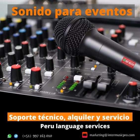 ? equipos de audio para eventos en lima, alquiler de de ecranes